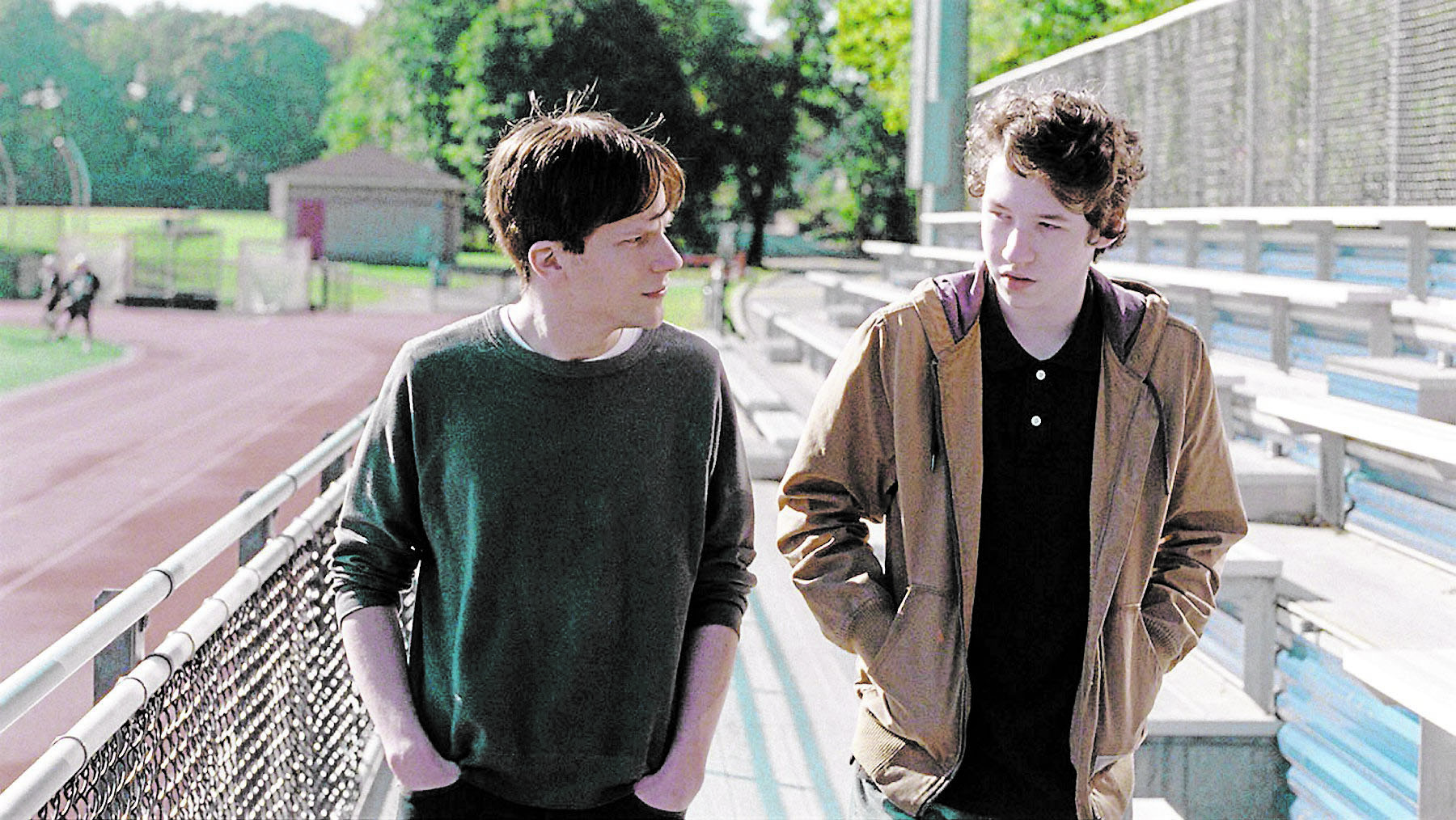 Jesse Eisenberg and Devin Druid are in Louder Than Bombs.