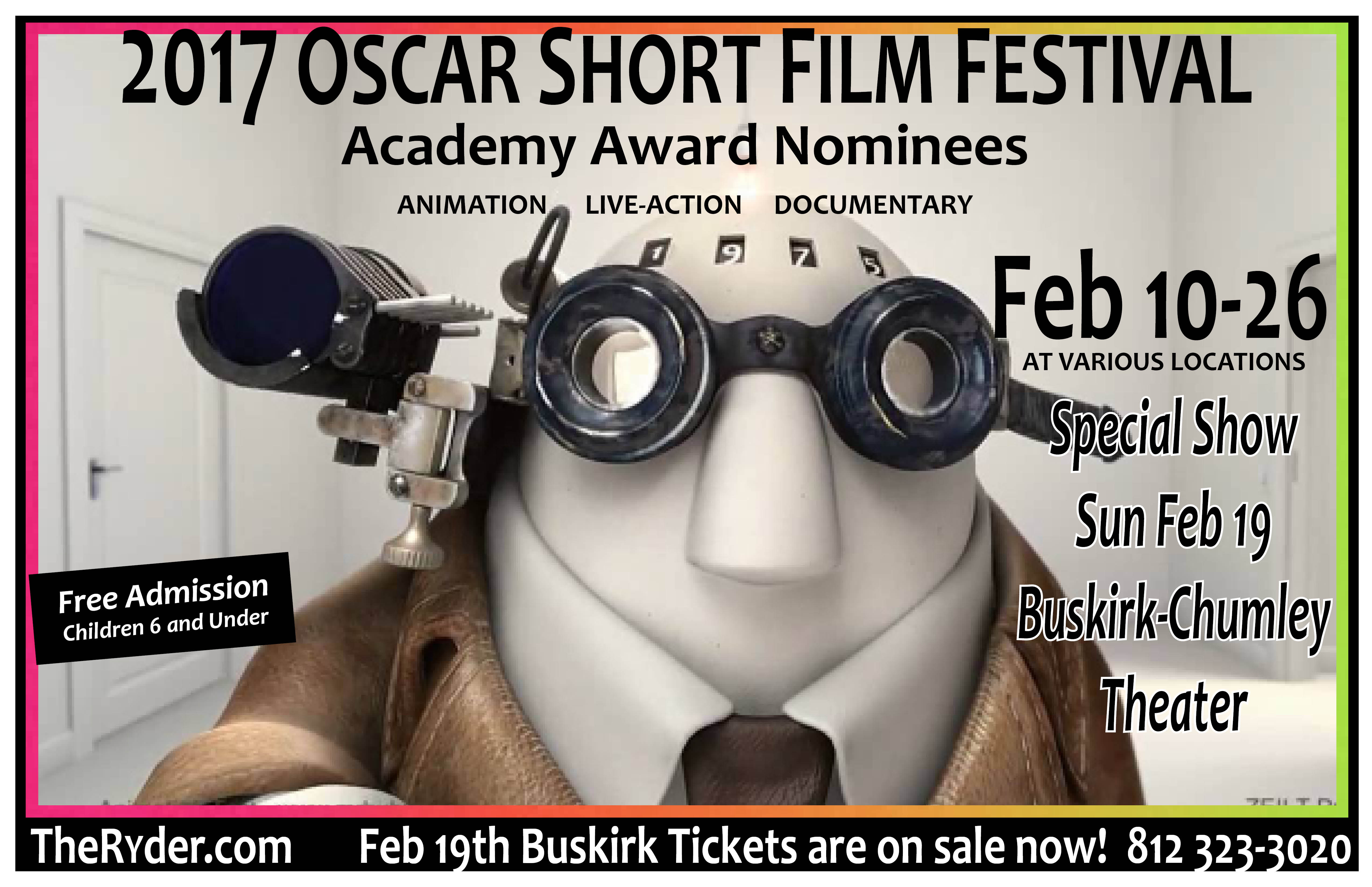 2017 Oscar Shorts poster 11X17 with DOCS