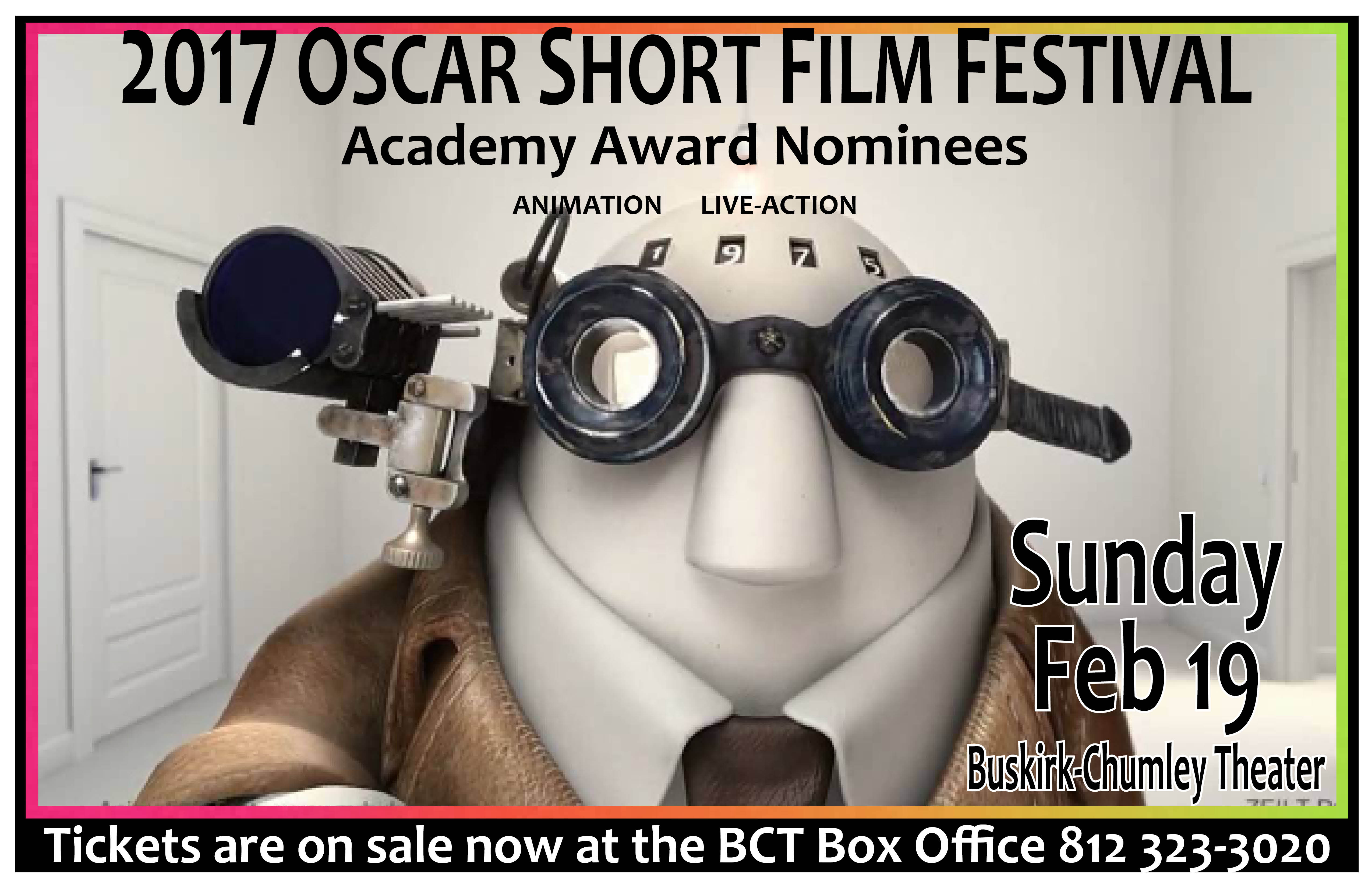 2017 Oscar Shorts poster 11X17 BCT ONLY